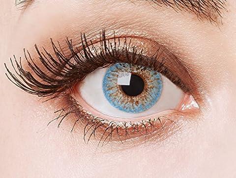 Couleur des lentilles de contact naturelles Ice Crystal de aricona – ans les lentilles pas opaque à terme pour les yeux claires- sans correction- les lentilles colorées pour le carnaval- des soirées à thème et des costumes d'Halloween et accessoires de mode