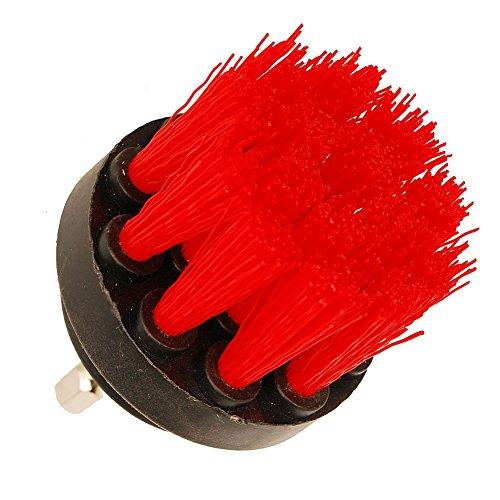 oxoxo HSS-Bürste–5,1cm Power Bohraufsatz Medium Heavy Duty Schrubben Scrubber Reinigungsbürste für Badezimmer Oberflächen Fliesenfugbrett Duschen und mehr