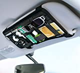 Moonlove Pare-soleil de voiture Organiseur élastique Tableau électronique accessoire de support de stockage pour lunettes de soleil Câbles de charge Power Bank CD Stylo Auto Intérieur Accessoires