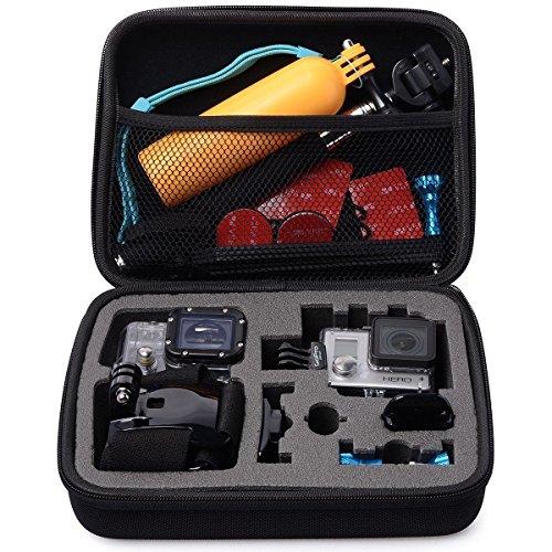BPS Medium, der Fall für GoPro Hero 4, Hero 3+, Hero 3, Hero 2und GoPro Zubehör (22,6x 17,3x 5,3cm)-Portable Stoßfest Aufbewahrung Schutztasche Tasche mit hervorragenden Schnitt Schaumstoff innen-Perfekt für GoPro Action Kamera Portable Case Suction Mount