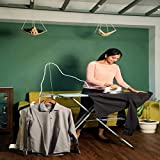 HNESS International Quality Ironing Board/Iron Table Stand with Press Holder, Foldable & Height Adjustable/Ironing Board with