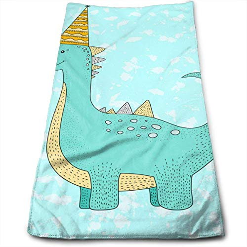 Kitchen Hand Towel Blue Dinosaur Party Supplies Durable Antibacterial and Highly Absorbent Reusable Polyester Towel