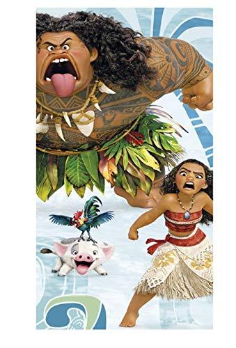 DisneyVaiana Vaiana- tolle Gechenkidee für Kinder - Handtuch/Saunatuch / Strandtuch/Duschtuch / Badetuch - 70 x 140 cm - 100% Baumwolle - HEI HEI - Pua-Maui-