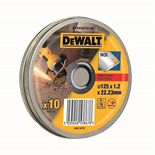 DeWalt DT42340TZ Trennscheibe Edelstahl, flach, 125 mm x 1.2 mm, 10 Stück