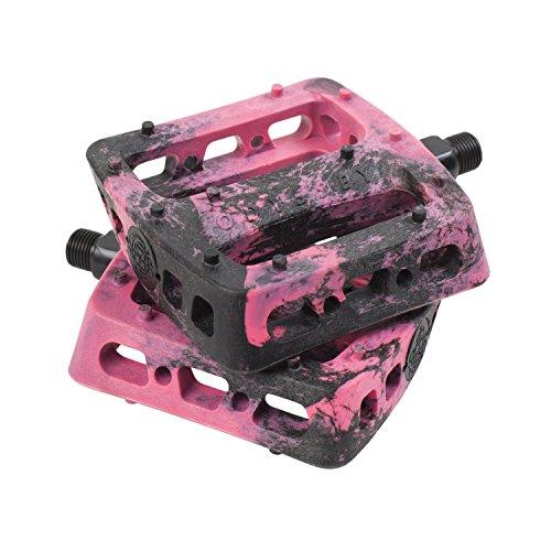 Odyssey Twisted Pro Pedale New Style schwarz Freestyle BMX Kunststoff Grip, rosa / schwarz -