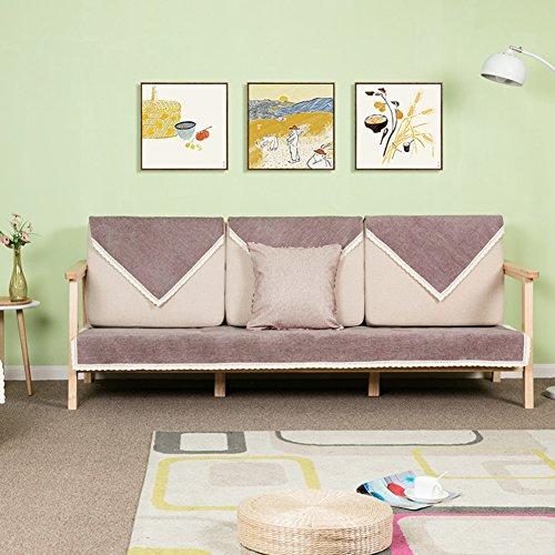 DULPLAY Volltonfarbe Sofabezug,Multi-Size Sofa-Wurf Umfasst unterstützung Weich Wattiert möbel Protektoren-abdeckungen Anti-Rutsch Waterproo-C 70x210cm(28x83inch)