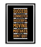Lab No. 4 To Be Connected Conrad Hilton Motivational Quotes Framed Poster Size A3 (16.5