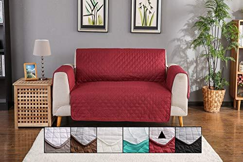 Honcenmax copridivano divano protector mobili coperture - trapuntato impermeabile antiscivolo protector - per cani/gatti letto con divano slipcovers - 2 posti (106'' x 77'')
