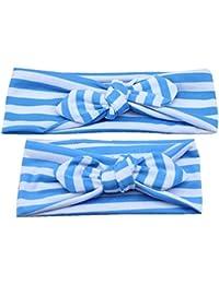 kingko® 2 Pcs adultes et bébé Gardez Tissu élastique chaud bowknot Bandeau Pour maman et bébé