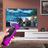 CASEBOT Silicone Case for All-New Fire TV 4K / 2nd Gen Fire TV Stick Voice Remote, Compatible with Amazon Echo/Echo Dot Alexa Voice Remote - Honey Comb Series [Anti Slip] Shock Proof Cover, Purple