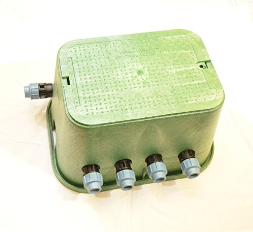 Rohr Bewässerung (Ventilbox PREMIUM - 4 x Hunter PGV-101MMB Magnetventil (4 Zonen), mit (3/4
