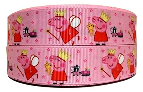 1 METRE PEPPA PIG Rosa CHARACTER cinta carcasa 2,54 cm 25 mm