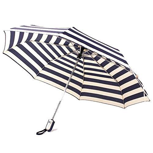 HAIMEI-WU Vollständig Robotic Marine-Streifen Anti-UV-Falten-Regenschirm Leicht (Color : Stripe) -