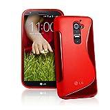 EASYPLACE® - S-Line Silikon Schutzhülle RED für LG G2