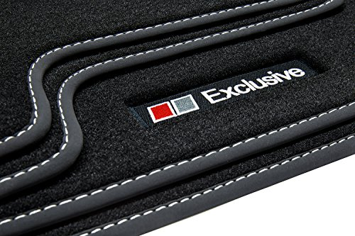 tuning-art E701 Exclusive Line Tapis de sol avec liseré, coutures décoratives