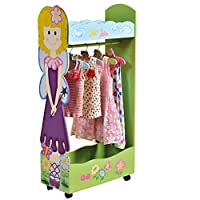 Liberty House Toys Fairy Dress Up Storage Centre with Hangers, Wood Various Pinks