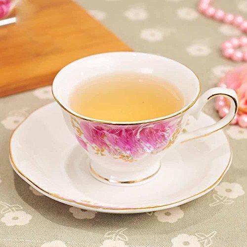 SSBY Européen en céramique cadeau café porcelaine tasses et soucoupes, rouge/tasse soucoupe tasse à thé , B