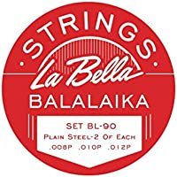 La Bella Balalaika - Juego de 3 cuerdas para balalaika (acero inoxidable)