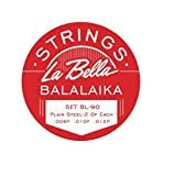 La Bella Balalaika - 3 corde singole in acciaio, con estremità ad anello
