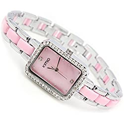 Sweet Home Ladies/Women Simple Classical Business Wrist Watch, Pink