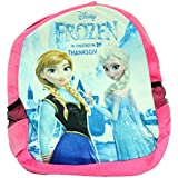 Kabir Kirtika Toys' Disney Frozen Pink Soft Toy School Bag For Kids, Travelling Bag, Carry Bag, Picnic Bag, Teddy Bag (Pink).