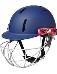 Gunn & Moore Purist Geo–Casco de críquet Batsman protección tamaño SNR y Jnr, color azul marino, tamaño infantil