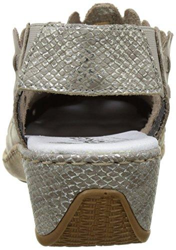 Rieker 47156-42, Mocassins Femme Gris (steel/fango-silver)