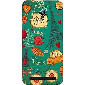 Casotec Paris Love Print Design 3D Printed Hard Back Case Cover for Asus Zenfone Go ZC500TG 5inch