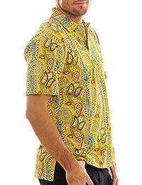 Ralph Lauren Polo manches courtes jaune à motifs RL06492