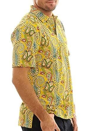 Ralph Lauren Polo manches courtes jaune à motifs RL06492, Taille:xl