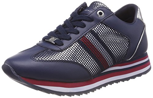 Tommy Hilfiger Damen Tommy Corporate Flag Sneaker, Blau Navy 406, 40 EU