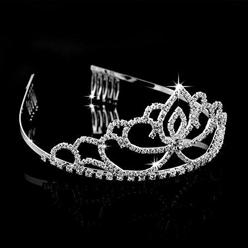 Abeillo-Hochzeit-Braut-Kronen-Stirnband-Tiara-Charming-Strass-Kopfstck-Silber