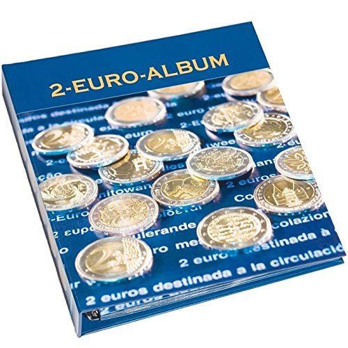 Leuchtturm 301082 2-Euro-NUMIS Vordruckalbum Band 1 | Für europäische Münzen 2004-2007, dt. Münzen 2006-2008, Gemeinschaftsaus. 50 J röm. Verträge -