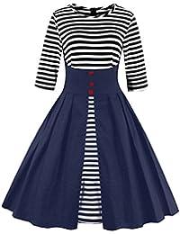 Dissa M1335 DamenRockabilly 50er Vintage Retro Kleid Partykleider Cocktailkleider