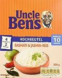 Uncle Ben's Basmati & Jasmin-Reis Kochbeutel, 3er Pack (3x 500g)