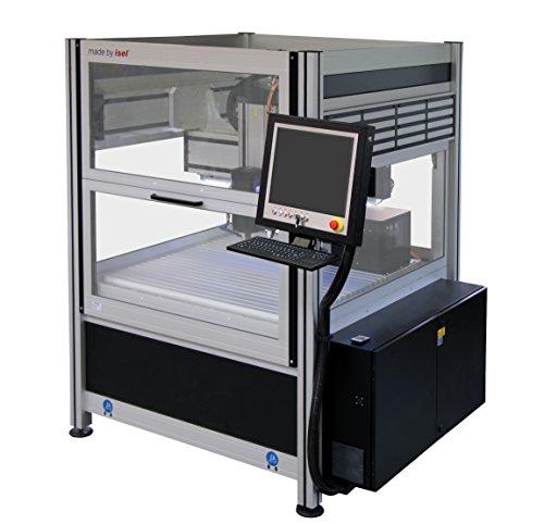 CNC- Fräsmaschine isel Overhead M20 inkl. Steuerung, Spindelmotor mit Werkzeugwechsler, Längenmesstaster, Minimalmengenschmierung