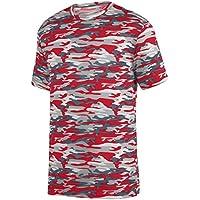 Augusta Sportswear Boys' Mod Camo Wicking Tee S Red Mod