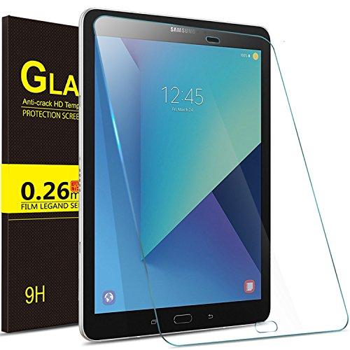 ELTD Samsung Galaxy Tab S3 (9,68 Zoll) Displayschutz, Glas Folie Schutzfolie Glas Panzerfolie Displayschutzfolie für Samsung Galaxy Tab S3 T820 / T825 (9,68 Zoll) 2017 Klar Anti-Kratz Screen Protector Displayschutz - 9H Hardness aus