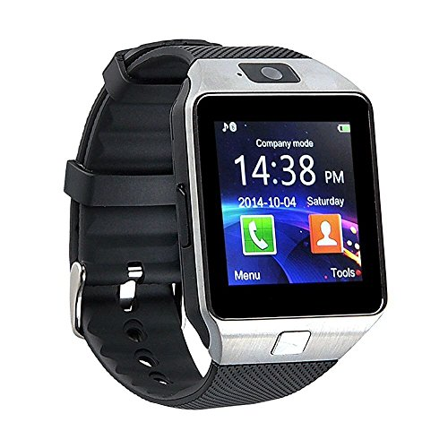 Bingo T30 Silver Bluetooth Notification Smartwatch compatible with anroid and iosdevice