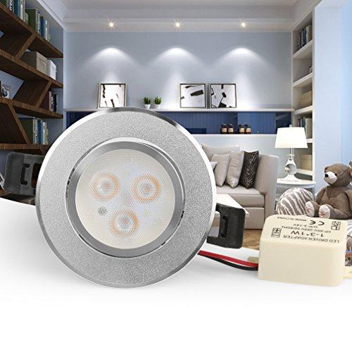 8 x 3w led Deckenspot, Anten Kaltweiß 180 Lumen Schwenkbar Einbaustrahler,AC200-240V