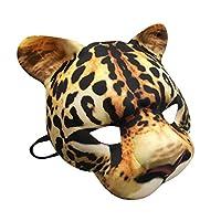 Fancy Dress VIP Express Adults Kids Book Week EVA Wild Animal Leopard Face Half Mask Eyemask Childs
