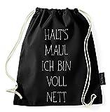 Über 40 Sprüche & Designs auswählbar / Sambosa Turnbeutel mit Spruch / Beutel: Schwarz / Rucksack / Jutebeutel / Sportbeutel / Hipster - 3