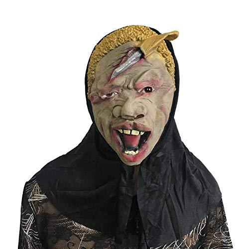Littlefairy Masken für Erwachsene,Horror Schädel Maske Halloween Scary Zeigen Latex Narbe Gesicht