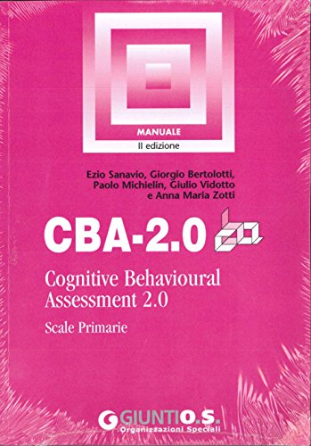 CBA-2.0: cognitive behavioural assessment 2.0 : scale primarie : manuale