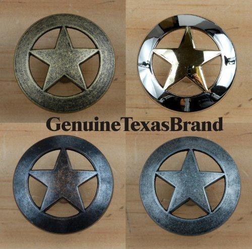 Set von 24Lone Star Schublade zieht Möbelknopf Western Southwest Decor Texas, 1 Please Select, 1 1/2