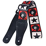 Kingpoint poliestere Dacron cinghie chitarra con estremità allungati in ABS con fibbia Fashion design, Michael Jackson Figure and Stars