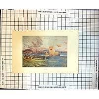 Il Mare del Cimitero della Croce Celtica dell'Isola della Cattedrale di Iona della Stampa Sciupa le Rovine 191J709 - Croce Celtica Iona