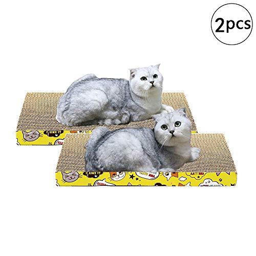 Mein HERZ 2 Stück Katzen kratzbrett, Cat Scratching Board Katzenspielzeug Schleifklaue Cat Supplies Senden Sie Catnip, Cat Scratch Matte, 43 * 24 * 4cm / 17 * 9,4 * 1,8in