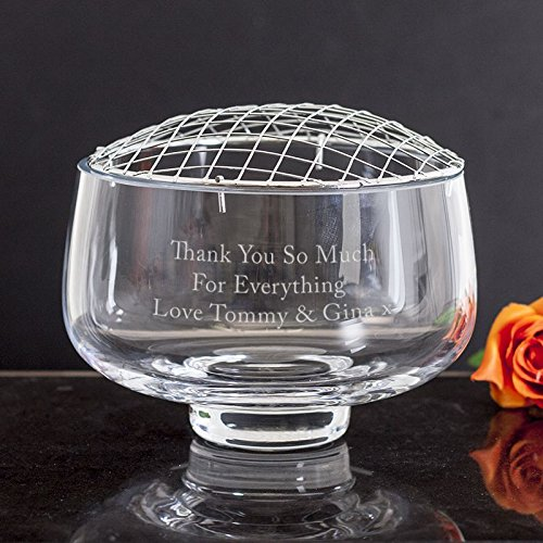 Engraved Rose Bowl