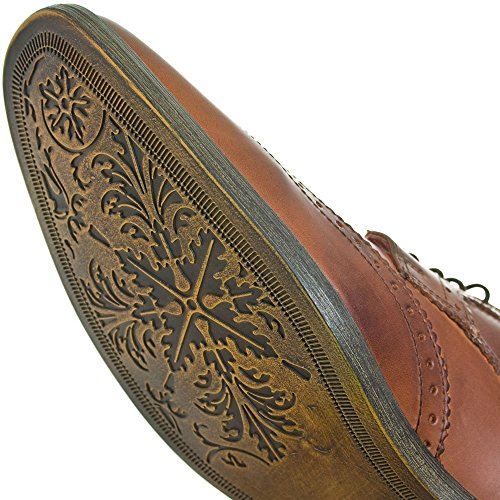 Base London Caraway Peluches Gentlemen Brun Pale Brogue Chaussure Marron (tenné)